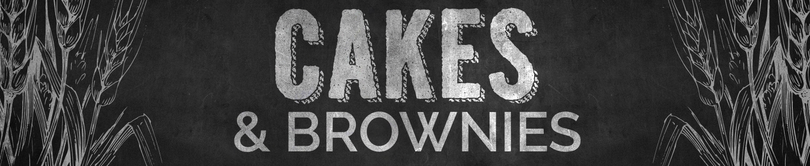 Cakes & Brownies Header